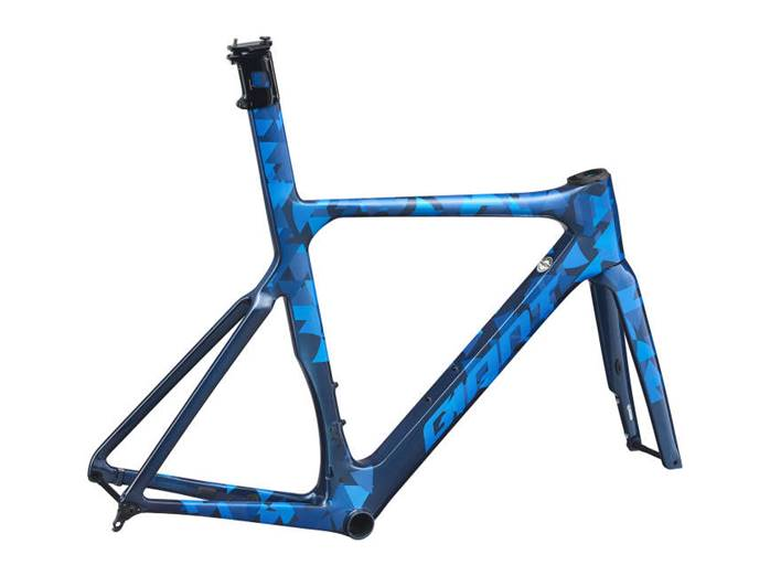Kit cadre carbone GIANT Propel Advanced SL Disc Bleu