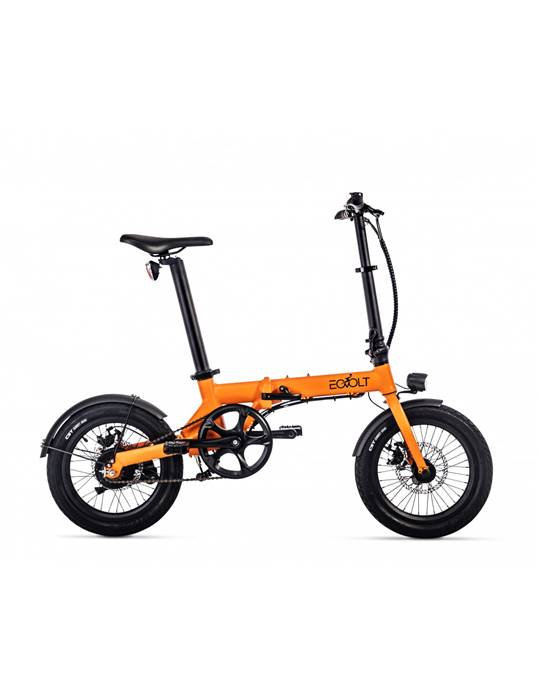 Vélo électrique pliable EOVOLT City Orange Mat