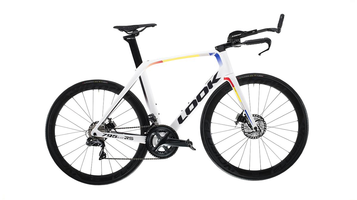 Vélo LOOK 795 BLADE RS Disc TT Proteam White Glossy Ultegra Di2