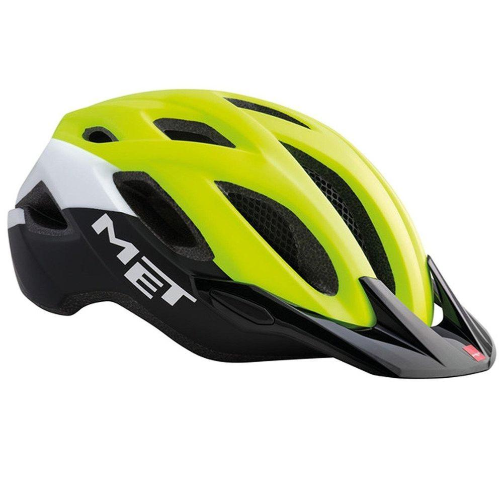 Casque MET Crossover Safety Jaune Blanc