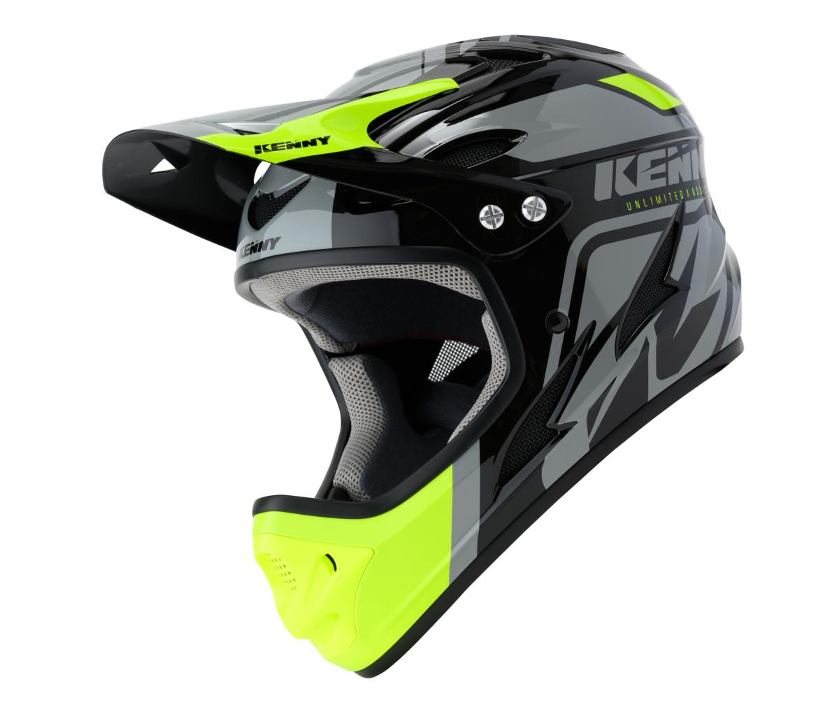 Casque intégral Kenny Down Hill Graphic BLACK NEON YELLOW