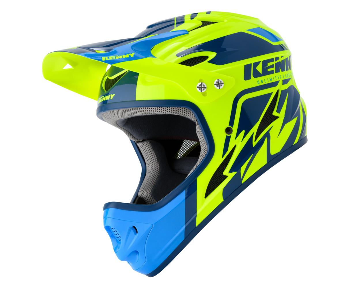 Casque intégral Kenny Down Hill Graphic BLUE NEON YELLOW