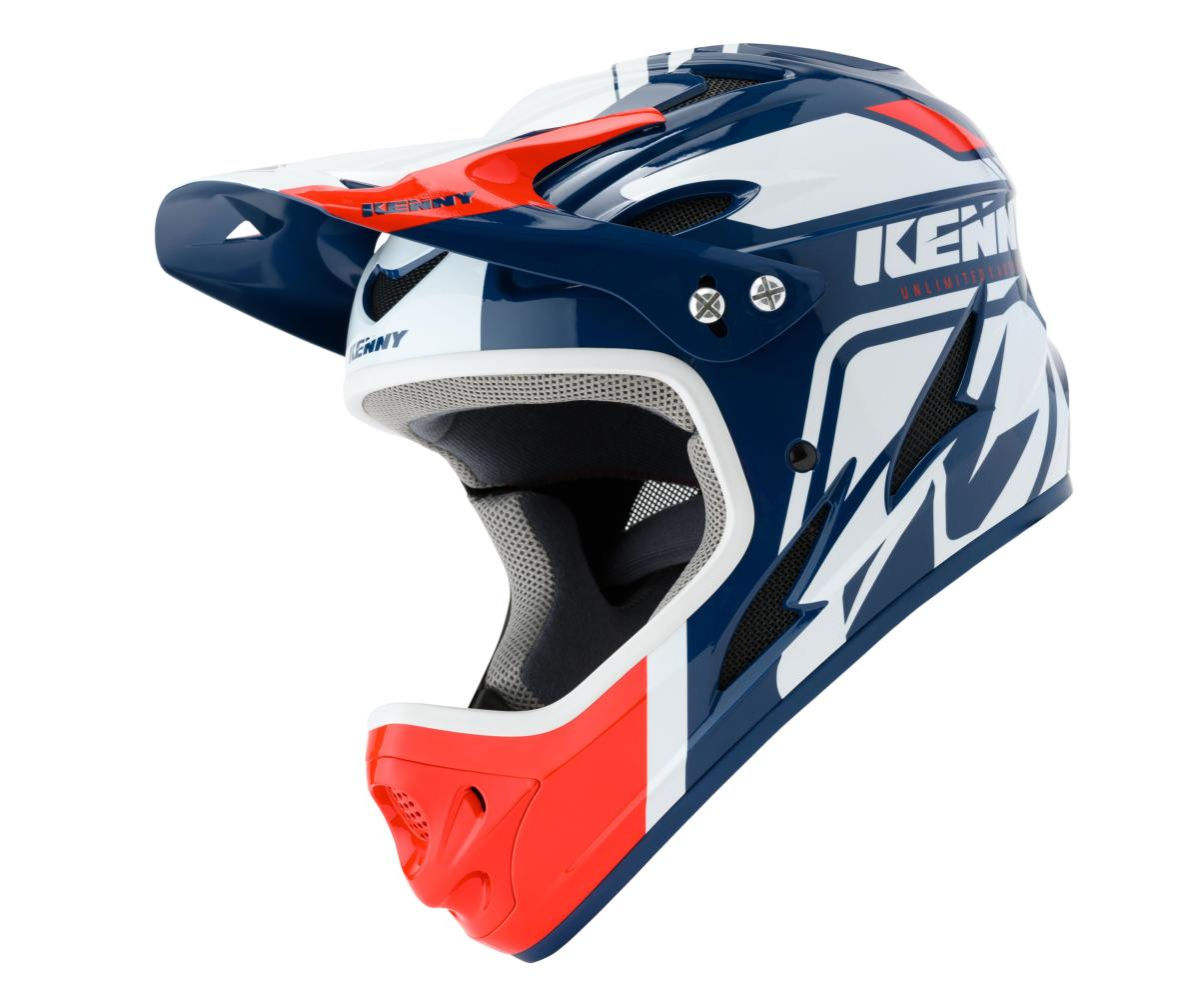 Casque intégral Kenny Down Hill Graphic WHITE NAVY RED