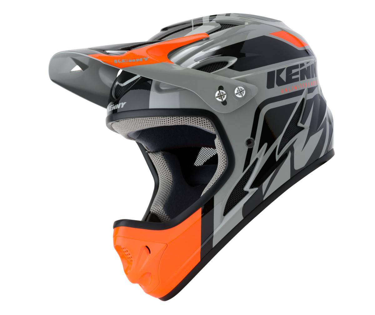 Casque intégral Kenny Down Hill Graphic BLACK ORANGE