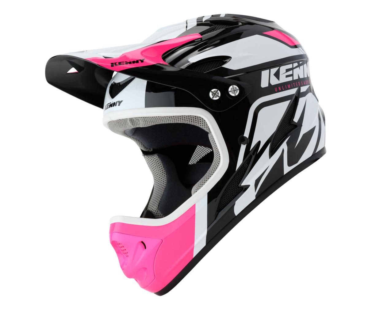 Casque intégral Kenny Down Hill Graphic PINK BLACK WHITE