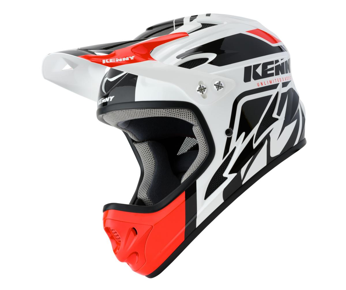 Casque intégral Kenny Down Hill Graphic WHITE BLACK RED