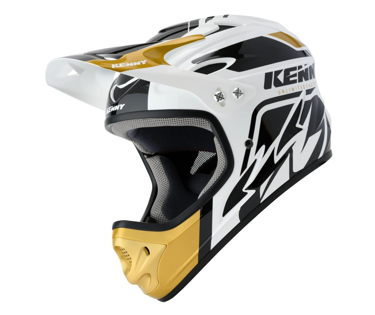 Casque intégral Kenny Down Hill Graphic WHITE GOLD