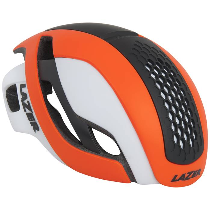 Casque LAZER Bullet Orange Blanc