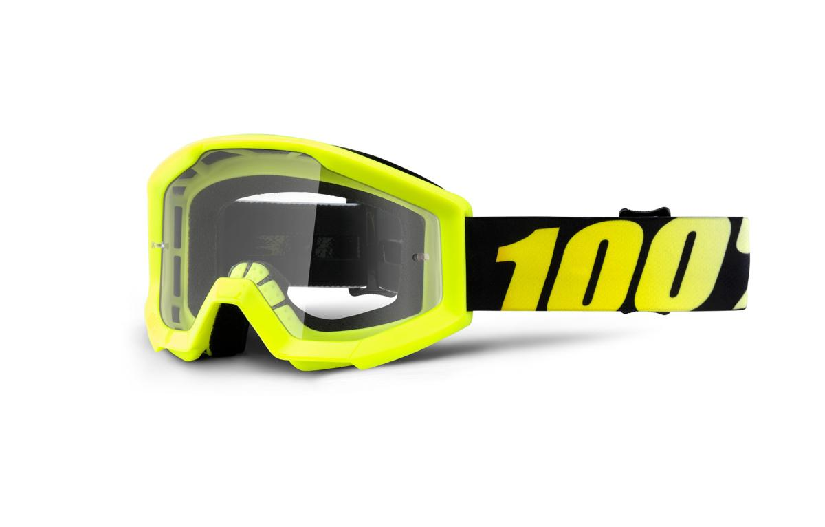 Masque 100% Strata Junior Jaune Fluo Ecran Transparent