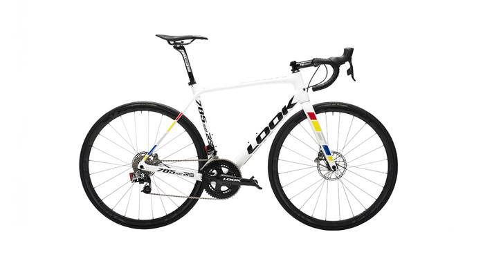 Vélo LOOK 785 Huez RS Disc Pro Team White Glossy e-Tap