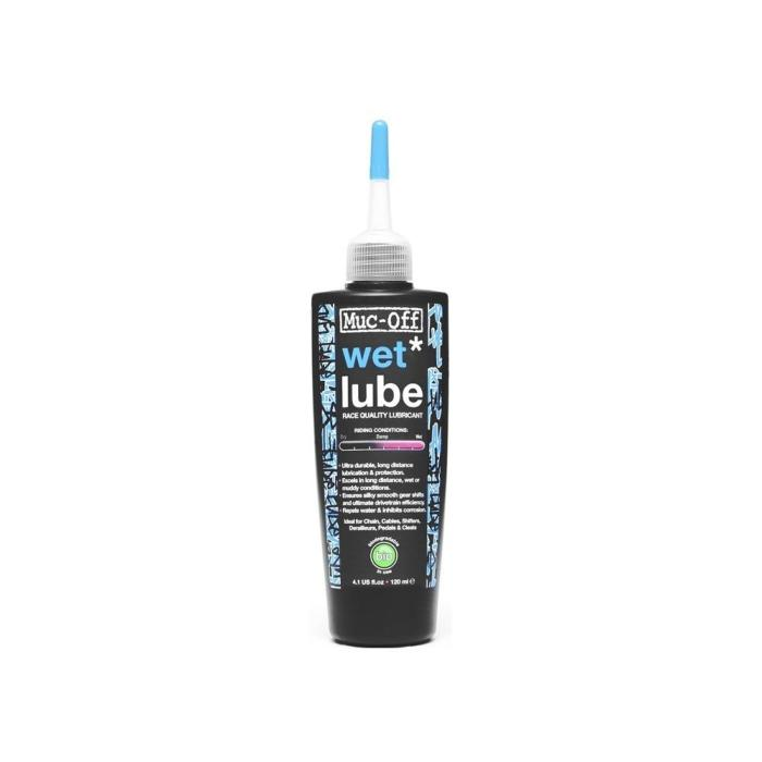 Lubrifiant Chaîne MUC-OFF WET LUBE Conditions Humides 120ml