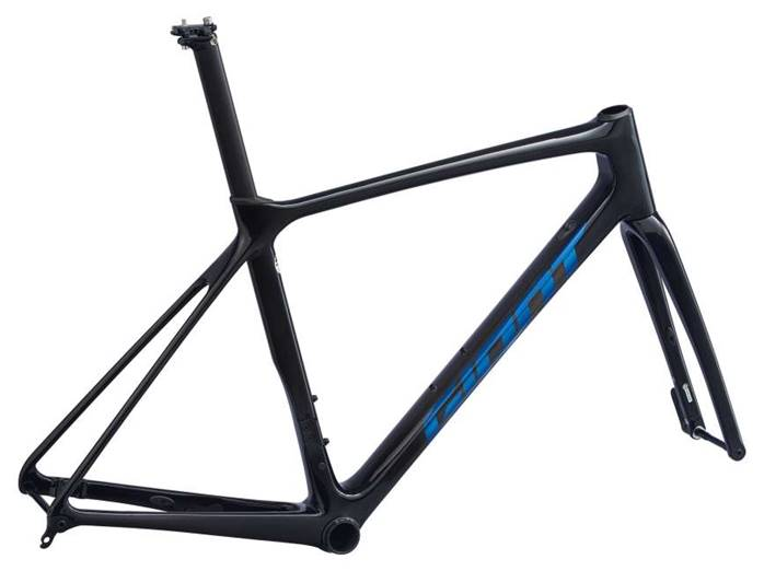 Kit cadre carbone GIANT TCR Advanced Pro Disc Noir Bleu