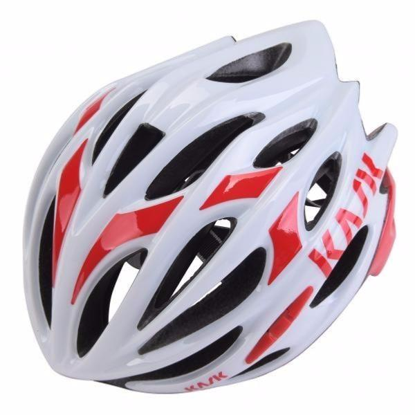Casque Kask Mojito Blanc/Rouge